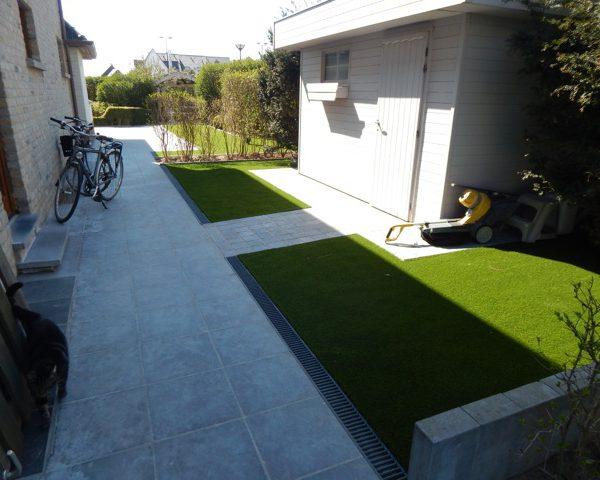 grastapijt tuin in Oostende