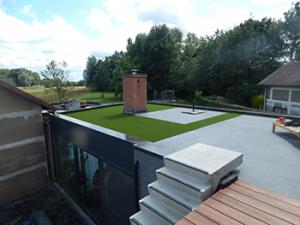kunstgras plat dak