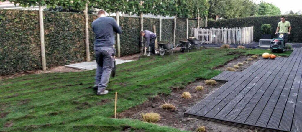 Verwijderen oude grasmat-1
